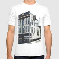 Alfred's Cafe Mens Fitted Tee MEDIUM White