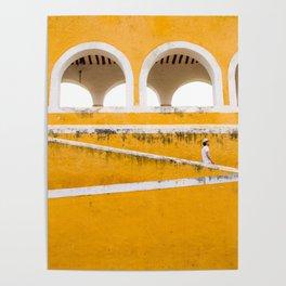 Colonial Mexico, Izamal in Yellow #buyart #society6 #decor Poster