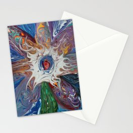 objectives flower of the cosmos Stationery Cards