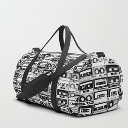 Something Nostalgic - black and white #decor #buyart #society6 Duffle Bag