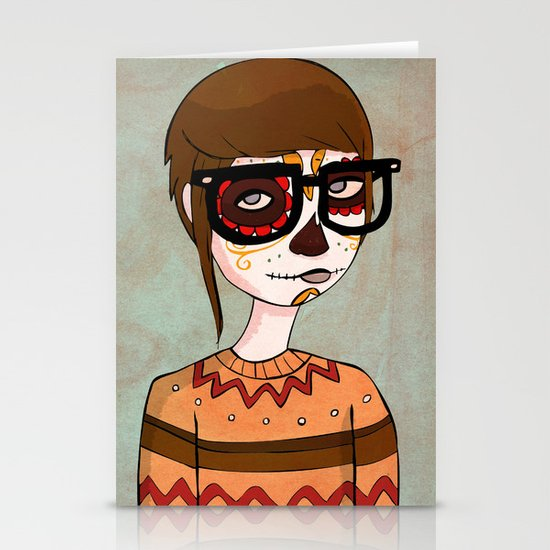 Day of the Dead Hipster Stationery Cards