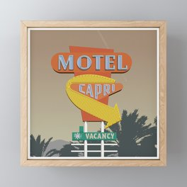 Capri Motel Framed Mini Art Print