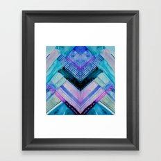 Blue Patchwork Framed Art Print