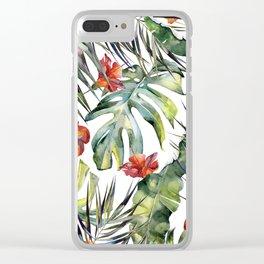 TROPICAL GARDEN 5 Clear iPhone Case