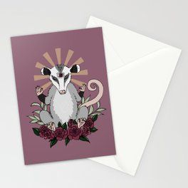 OM possum - radiates chill Stationery Cards