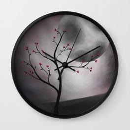 Midnight Peach Wall Clock