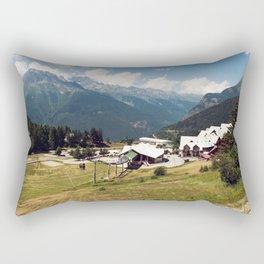 A Skilift Among French Alpine Mountains Rectangular Pillow