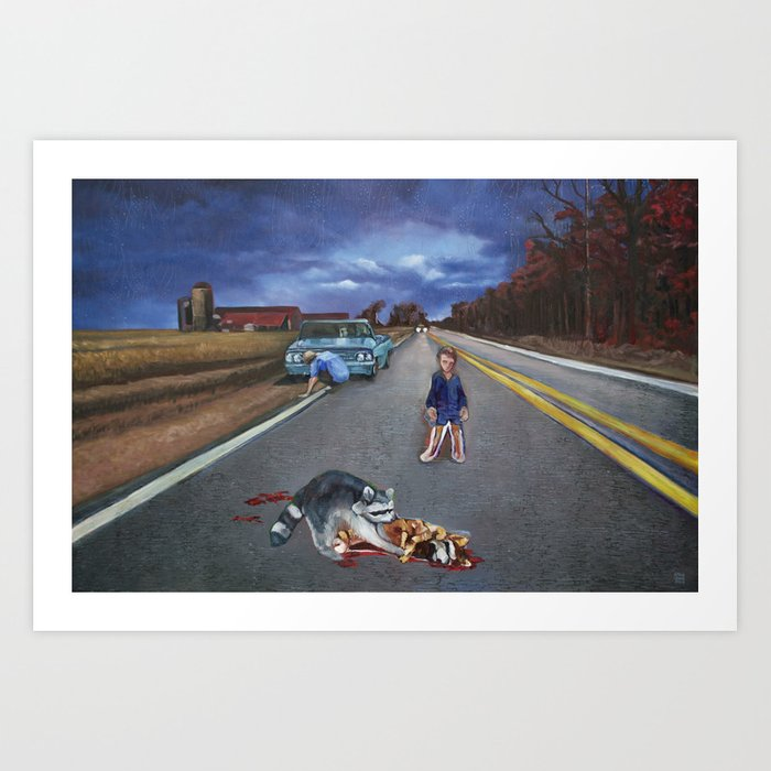 His GTO, the Raccoon, and You Art Print