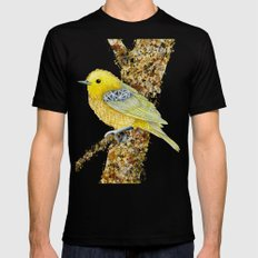 Yellow Warbler Tilly Black MEDIUM Mens Fitted Tee