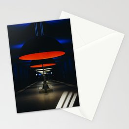ORANGE AND BLACK PENDANT LAMP Stationery Cards