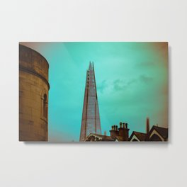 The Shard from the Tower of London England Metal Print