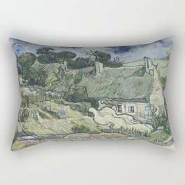 Thatched Cottages at Cordeville Rectangular Pillow