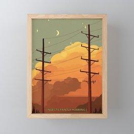 Summer nostalgia Framed Mini Art Print