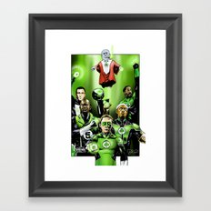 The Green Celtics Corps Framed Art Print