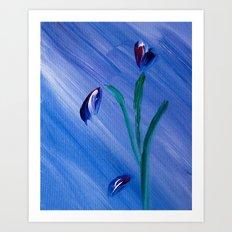 Flower on canvas Art Print