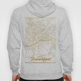 Frankfurt Map Gold Hoody