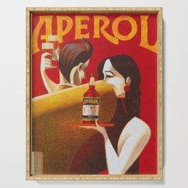 Aperol Alcohol Aperitif Spritz Vintage Advertising Poster Serving Tray