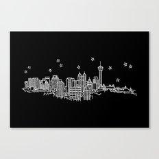 San Antonio, Texas City Skyline Canvas Print