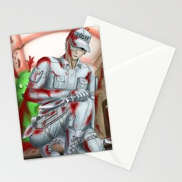 White Blood Cell (With Bloodstain) Stationery Cards