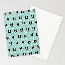 Boston Terrier head cute pet pattern dog breed gifts boston terrier lovers Stationery Cards