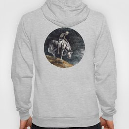 Skeleton Riding a Pale Horse Hoody