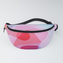 Bubbly Geometry - Red, Pink and Blue Fanny Pack