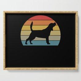 Retro Beagle I Dog Love Dog Motif Gift Serving Tray