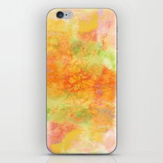 PASTEL IMAGININGS 3 Colorful Pretty Spring Summer Orange Yellow Peach Abstract Watercolor Painting iPhone & iPod Skin