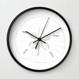 Sand Dollar Dreams - Brown on White Wall Clock