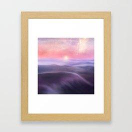 Minimal abstract landscape III Framed Art Print
