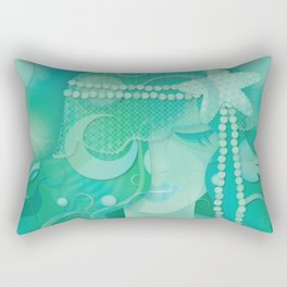 Mermaid III - Ice Queen Rectangular Pillow