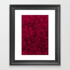 Sequin series red Framed Art Print