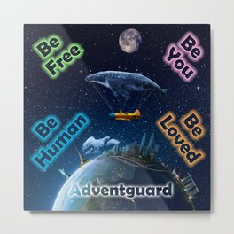 Advent Guard Earth Tranquil Whale Aspect Metal Print
