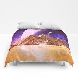 Galaxy Pyramids Comforters