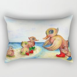 Snozzleberrymama and her ducklings Rectangular Pillow