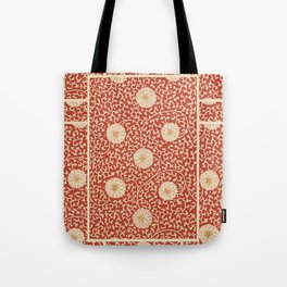 70's Red Floral Tote Bag