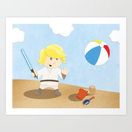 SW Kids - Luke at the Beach Art Print