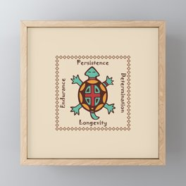 Turtle animal spirit Framed Mini Art Print