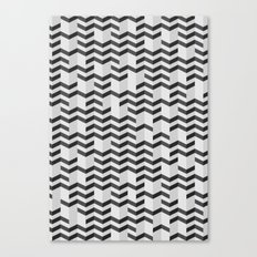 FOLDED / black Canvas Print