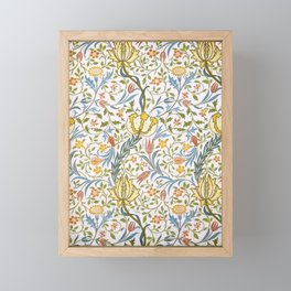 William Morris Flora Framed Mini Art Print