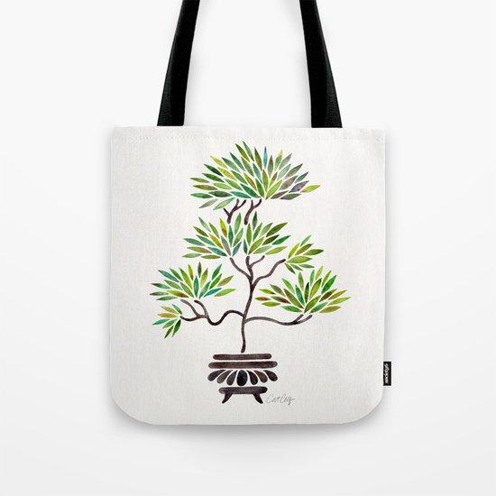 Bonsai Tree – Green Leaves Tote Bag