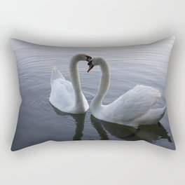 Romatic Swan Couple Rectangular Pillow