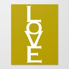Love (Yellow) Canvas Print
