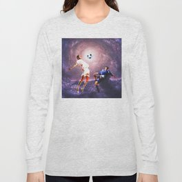 Football in the universe Long Sleeve T-shirt