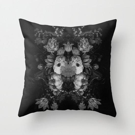 Botanical Darkness Throw Pillow