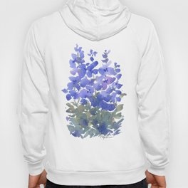 Beautiful Blue Delphiniums Hoody