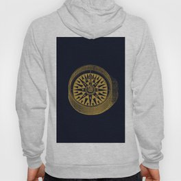 The golden compass I- maritime print with gold ornament Hoody
