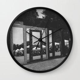 jagged reflections Wall Clock