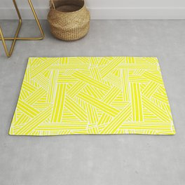 Sketchy Abstract (White & Yellow Pattern) Rug
