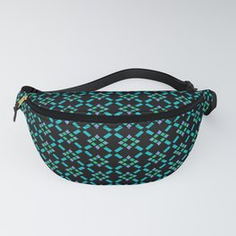 ABBEY midnight blue & emerald green & turquoise & perwinkle Fanny Pack